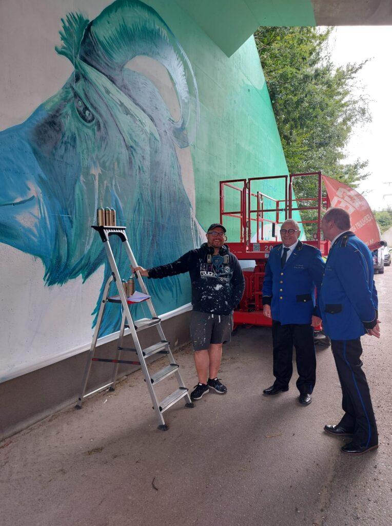 Muurschildering Roy Wagemans